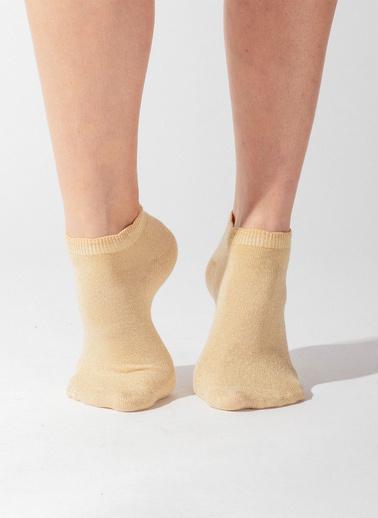Katia & Bony Shine Kadın Patik Çorap  Altın